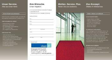 Matten-Service - Reinigungstechnik Frey GmbH
