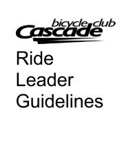 Ride Leader Guidelines - Frederick Pedalers