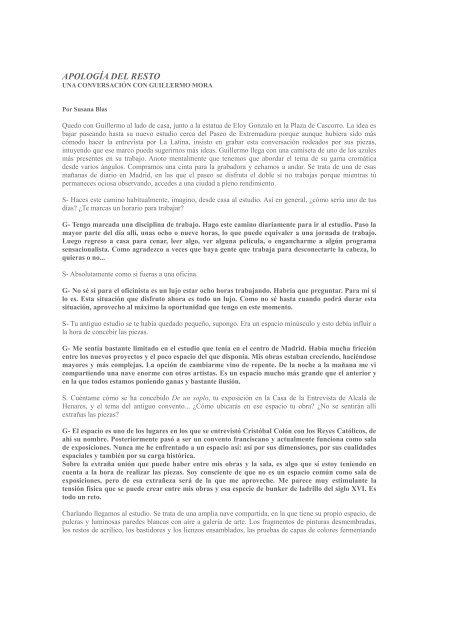 Apología del resto. Susana Blas 2009 - Formato Comodo