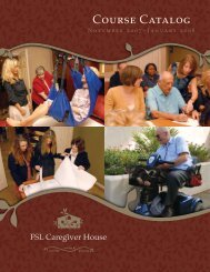 Caregiver House Training Catalog - The Foundation for Senior Living