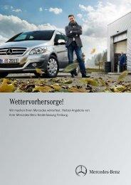 Wettervorhersorge! - Mercedes-Benz Niederlassung Freiburg