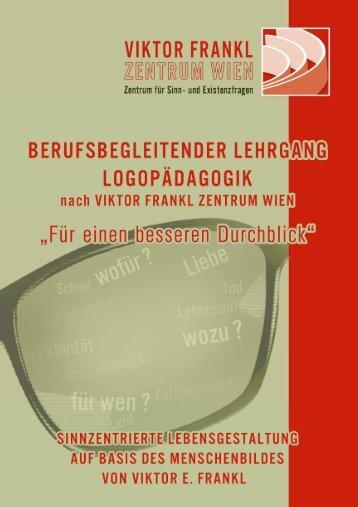 VIKTOR FRANKL ZENTRUM WIEN Lehrgangsheft