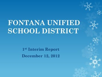 Increase in Expenditures - Fontana Unified School District