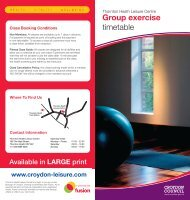 Group exercise timetable - Fusion Lifestyle