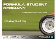SCRUTINEERING 2012 - Formula Student Germany