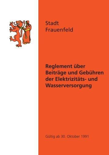 und wasserversorgung - Stadt Frauenfeld