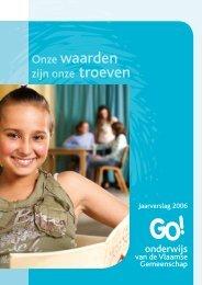 Jaarverslag 2006 - GO! onderwijs van de Vlaamse Gemeenschap