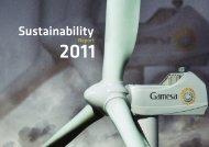 Sustainability Report 2011 - Gamesa