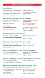 24 Stunden Notfallambulanzen - Freytag & Berndt