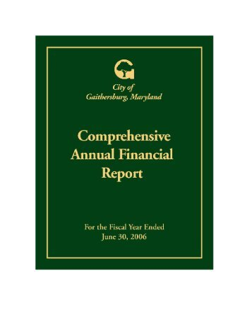 Download the 2006 Comprehensive Annual Financial Report