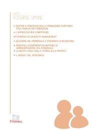 Corsi di Approfondimento Area Risorse Umane - Scheda PDF