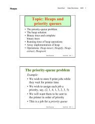 Topic: Heaps and priority queues