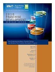Franchise Development Program - International Franchise Association