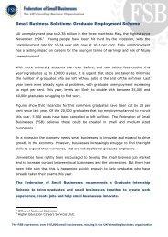 Graduate Employment Scheme - Federation of Small Businesses