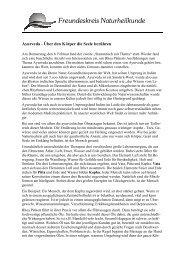 Pressemitteilung Treffen Ayurveda - Freundeskreis Naturheilkunde ...