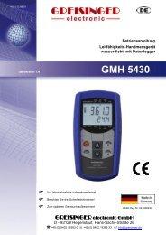 Bedienungsanleitung Präzisionsthermometer - Greisinger