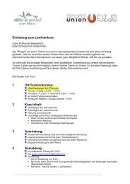 Einladung zum Lawinenkurs 1 Ort/Termin/Anreise: 2 Kurs-Inhalt: 3 ...