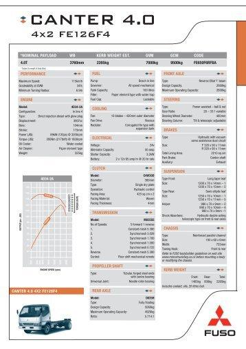 Gabrielli Truck Sales >> FE112C4 Specs - Mitsubishi FUSO Trucks