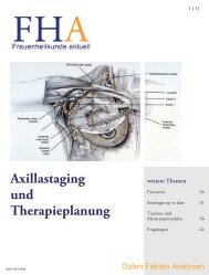 Axillastaging und Therapieplanung - Frauenheilkunde aktuell