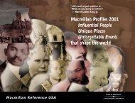 Macmillan Profiles 2001 Influential People Unique Places ... - Gale