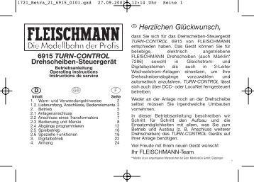 Herzlichen Glückwunsch, - Fleischmann