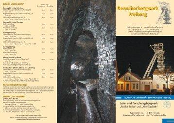 Besucherbergwerk Freiberg Besucherbergwerk ... - Freiberg-Service