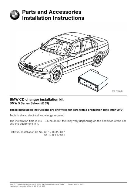 CD changer E30 from 09/01 4909 - BMW Retrofit guides