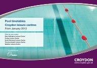 Croydon Swimming Timetable (234kb pdf) - Fusion Lifestyle