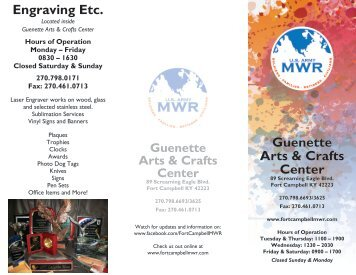 to view the Guenette Arts & Crafts Brochure - Fort Campbell MWR