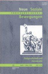 Vollversion (6.21 MB) - Forschungsjournal Soziale Bewegungen