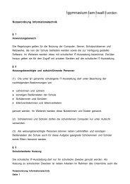 Nutzerordnung Informationstechnik - gymnasium am wall verden