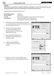 Softwareupdate bei IRD - FTE Maximal