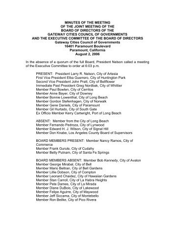 minutes of the meeting of the joint meeting of the board of directors ...