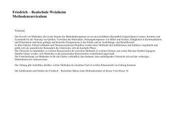 Download des Methodencurriculums - auf der Website der Friedrich ...
