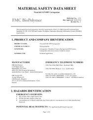 Viscarin® GP 109F Carrageenan - FMC Corporation