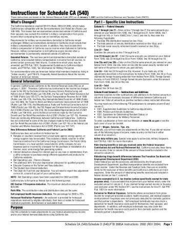 California Franchise Tax Board Form 540 Instructions Ibov