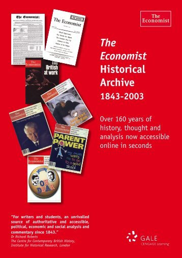 The Economist Historical Archive - Galeuk.com galeuk