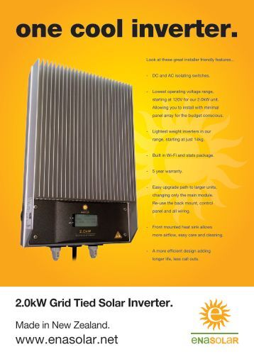 EnaSolar Grid Tied 2.0kW Brochure - Fusion Power System