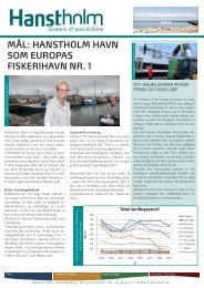 MÅL: HANSTHOLM HAVN SOM EUROPAS FISKERIHAVN NR. 1 - FiskerForum.com