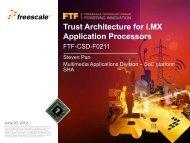 Trust Architecture for i.MX Application Processors