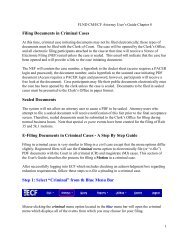 Filing Documents in Criminal Cases - the Northern District of Florida