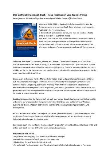Das inoffizielle facebook-Buch – neue Publikation vom Franzis Verlag