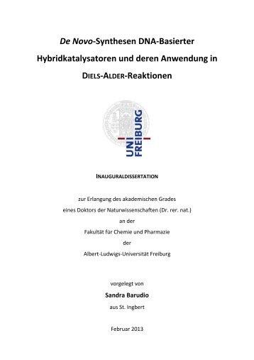 De Novo-Synthesen DNA-Basierter Hybridkatalysatoren und deren ...