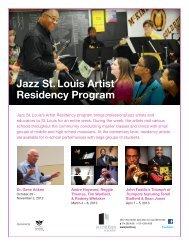 Artist Request Form - Jazz St. Louis
