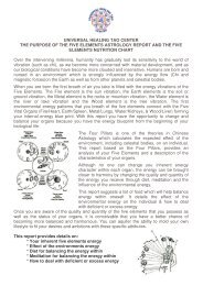 UNIVERSAL HEALING TAO CENTER THE PURPOSE OF THE FIVE ...