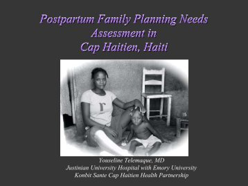 Postpartum Contraceptive Needs Assessment - International ...