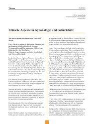 Ethische Aspekte in Gynäkologie und Geburtshilfe