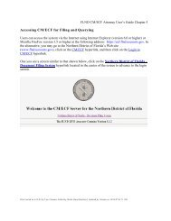 Accessing CM/ECF for Filing and Querying - the Northern District of ...