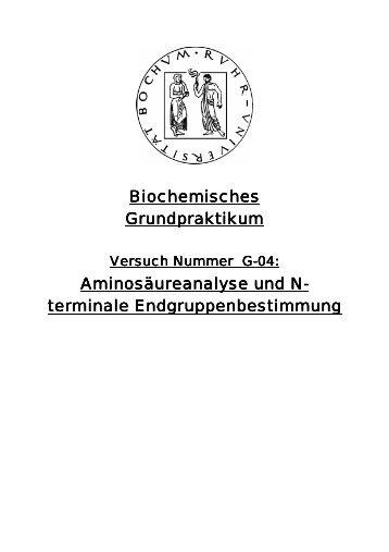 Aminosäureanalyse und N-terminale ... - funnycreature.de