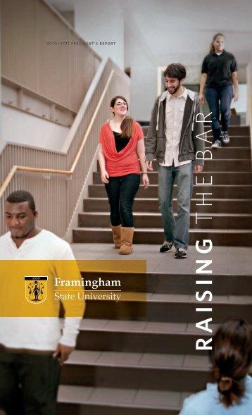 RAISING THE BAR - Framingham State University